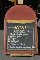 assinar menu infantil foto