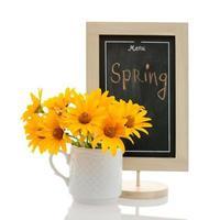 conceito de menu primavera