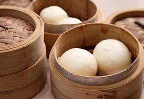 pães chineses no vapor foto
