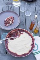torta de legumes foto