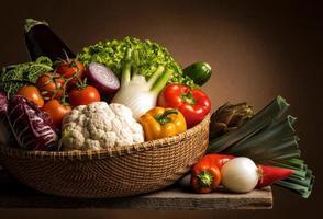 natureza morta com legumes