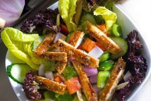 salada de frango com gergelim foto