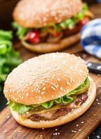 hambúrguer de frango foto