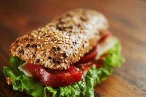 sanduíche de vegetais foto