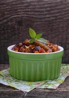 ragu de legumes (pimentão, berinjela, tomate, cebola, abobrinha) foto