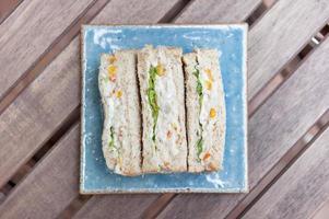 sanduíche de atum foto