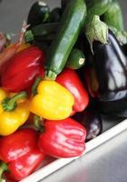seleção de vegetais crus foto