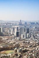 paisagem urbana no centro de Seul. foto