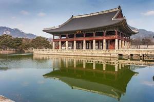 palácio gyeongbokgung em seoul, coreia do sul foto