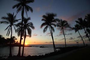 pôr do sol no Havaí