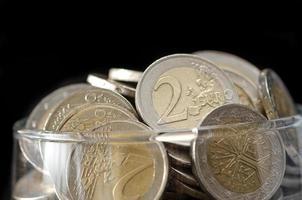moedas em vidro foto