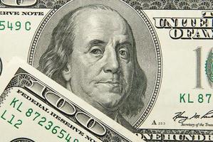imagem retrato de 100 dólares americanos foto