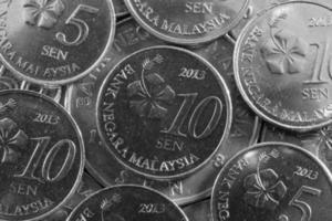 dinheiro diferente da Malásia na Ásia foto