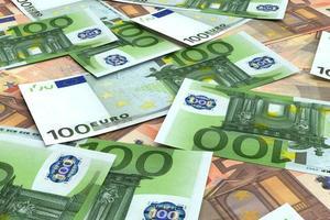 fundo de dinheiro de muitos euros foto
