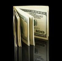 notas de dólar americano foto
