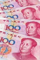 dinheiro china yuan. moeda chinesa foto