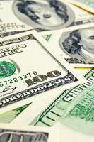 close-up dinheiro dólares fundo foto