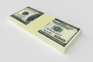 conceito de dinheiro - muitas notas de dólares