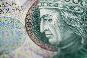papel-moeda polonês ou notas foto