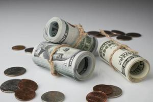 dólar e moeda foto