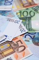 nota de banco em euro foto