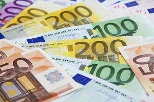 notas de euro ventiladas foto