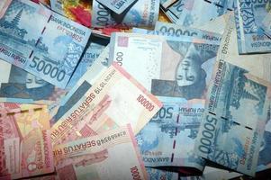 notas da indonésia foto