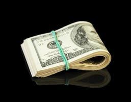 notas de dólar enroladas