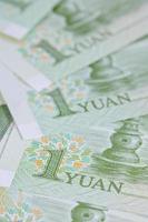 notas de yuan chinês (renminbi) por dinheiro e negócios conce foto
