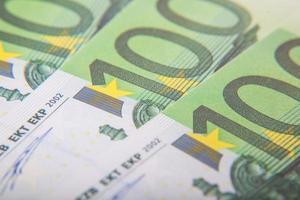 Notas de 100 euros foto
