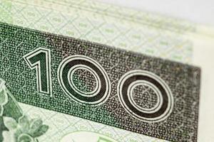 nota de banco 100 pln - zloty polonês foto