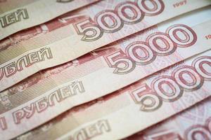 fundo de rublos russos. foto