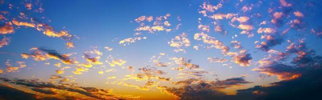 panoramas do pôr do sol foto