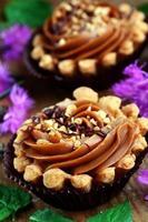 mini torta de caramelo foto
