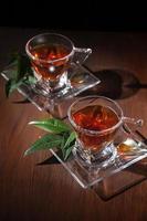xícaras de chá foto