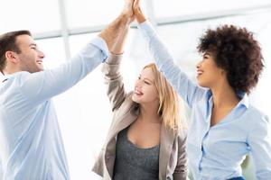 grupo de negócios, unir as mãos