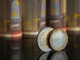 um e dois euros foto