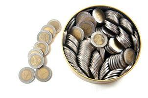 moedas de dez baht da tailândia