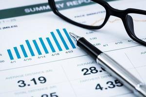 relatório de análise de gráfico de negócios foto