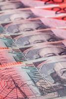 notas de vinte dólares australianos ($ 20) foto