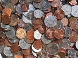 moedas dos eua - centavos em quartos foto