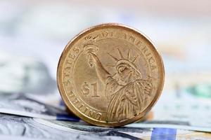 moeda de um dólar foto