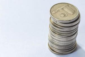 moedas macro foto