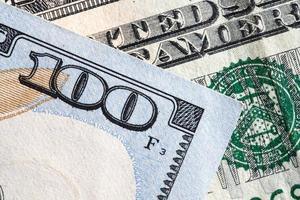 close-up de nota de dólar foto