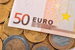 notas de cinquenta euros foto