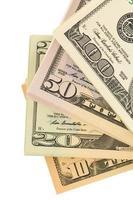 muitas notas de dólar