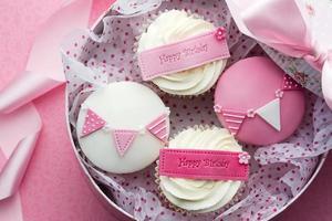 caixa de presente cupcake