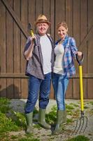 casal de agricultores foto