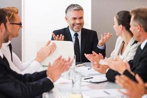 equipe de negócios de sucesso. foto