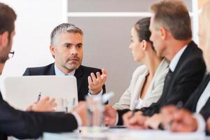 reunião de negócios. foto